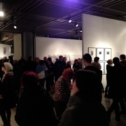 At the opening reception