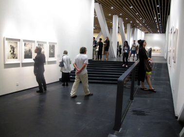 A view from the inside of the China Printmaking Museum.