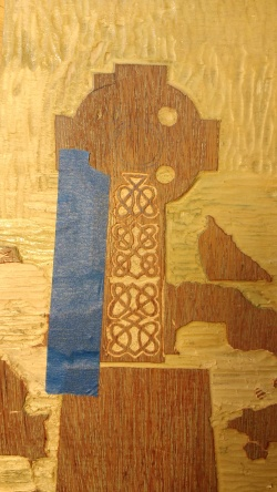 Midway progress on the Celtic Cross.