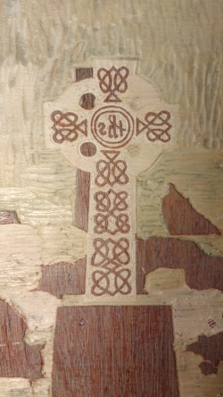 The final stage of the Celtic Cross. This took an entire day to carve.